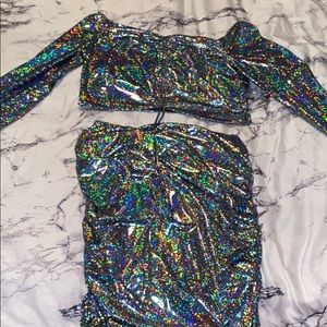 Two piece sparkly outfit